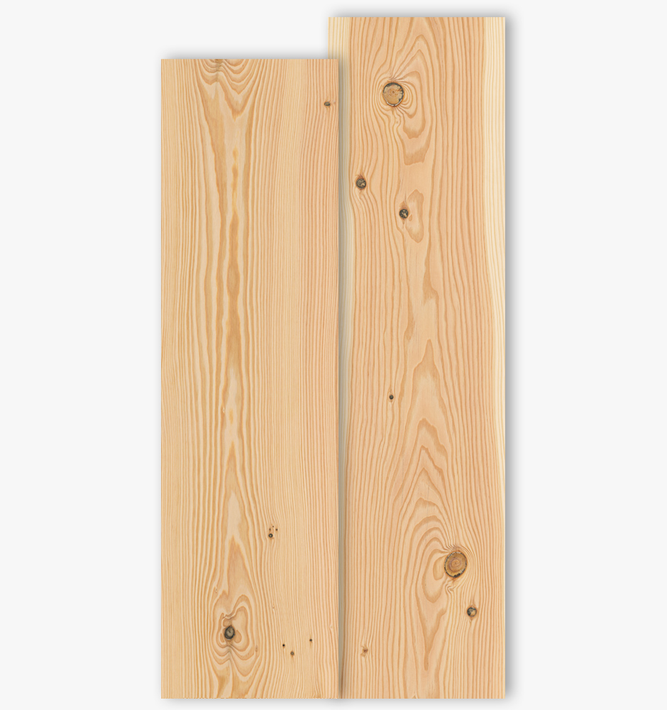 Douglas boards with grade type Select and Natur with 250mm width