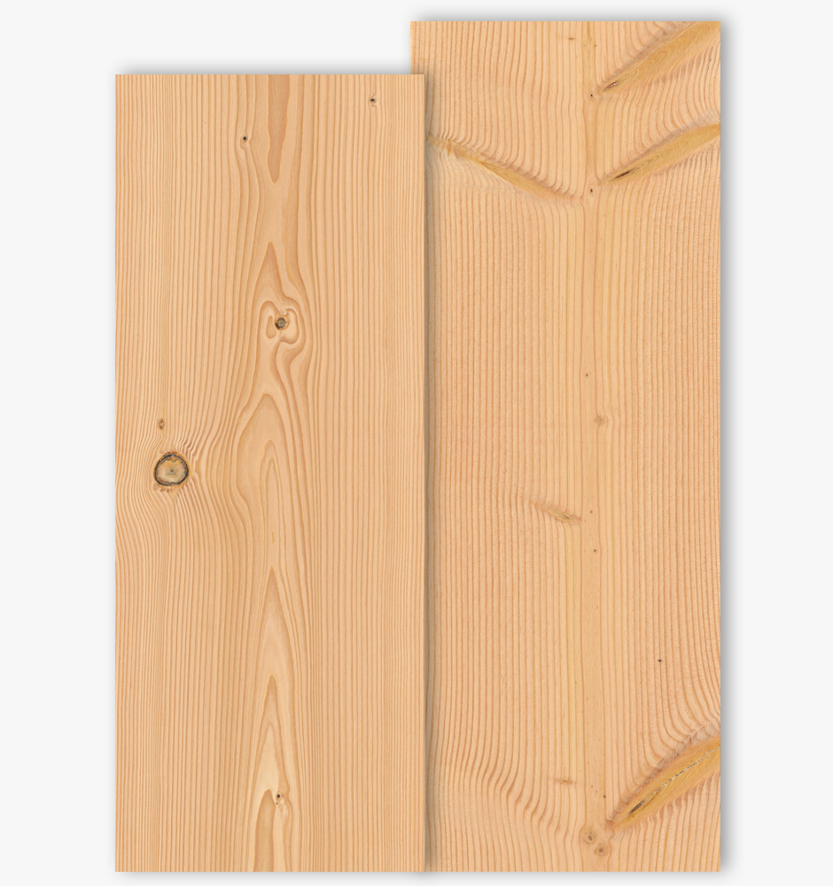 Douglas floor boards with grade type Select and Natur with 350mm width