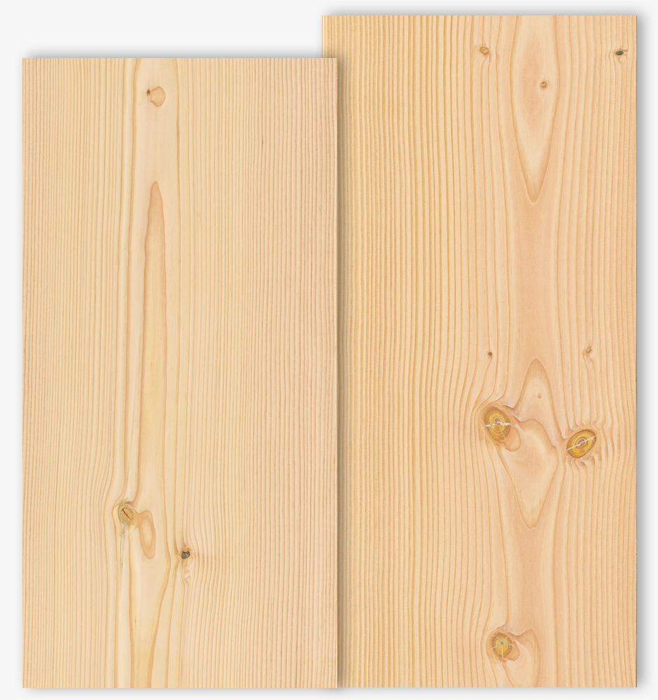 Douglas floor boards with grade type Select and Natur with 450mm width