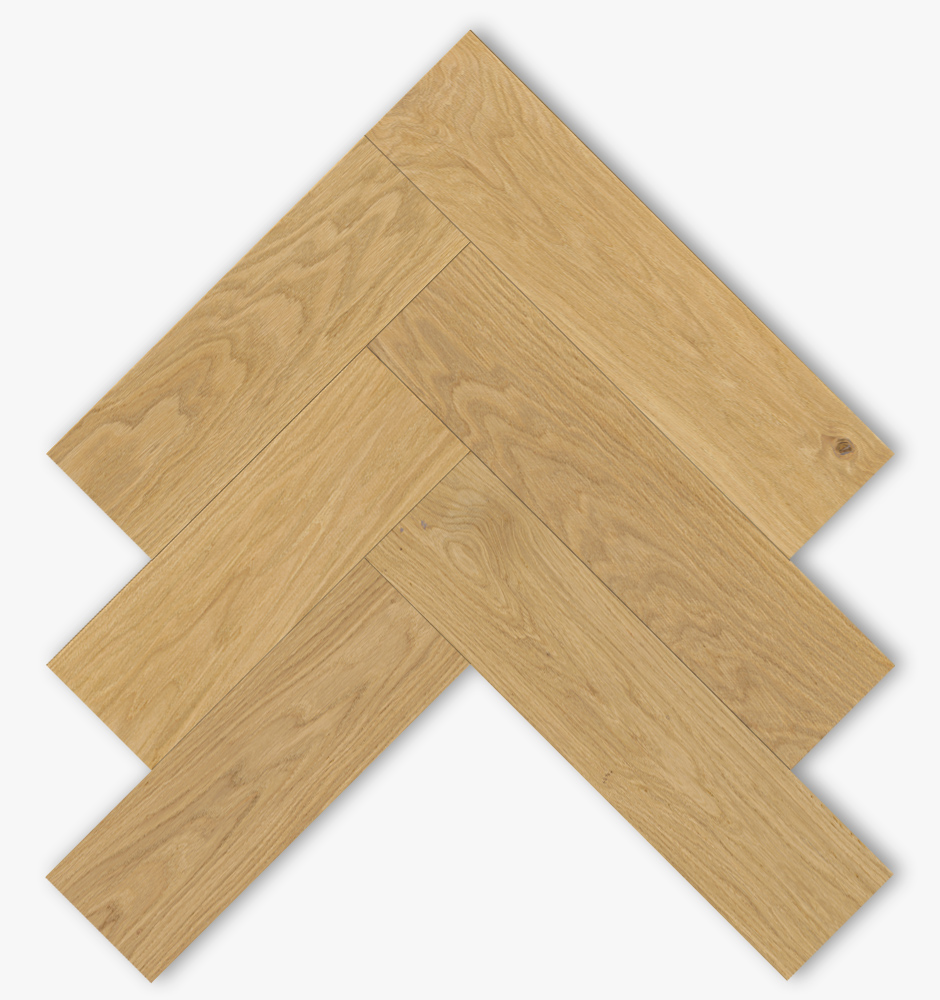 Oak Herringbone parquet pattern by pur natur manufactured in Germany