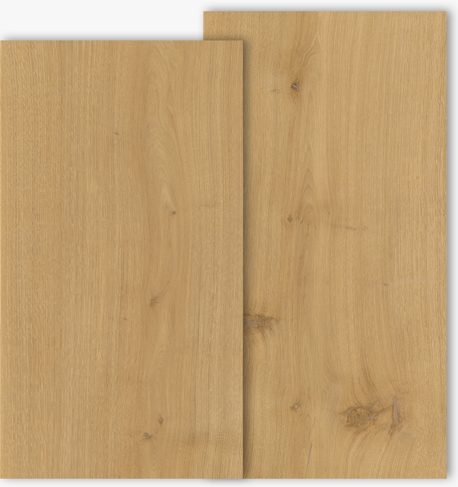 Oak floor boards with grade type Select and Natur with 500mm width